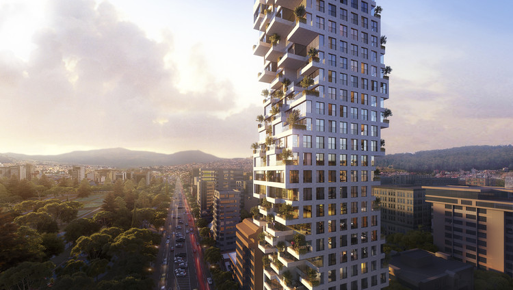 Safdie Architects Announce Design for Fractalized Residential Tower in Quito, Courtesy of Safdie Architects