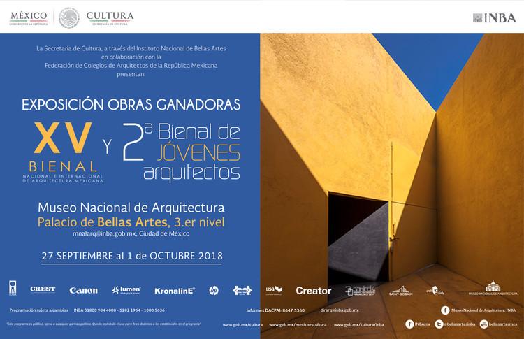 Exposición XV Bienal de Arquitectura Mexicana + 2ª Bienal de Jóvenes Arquitectos, © INBA