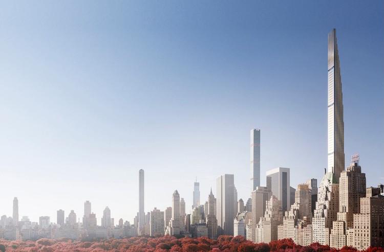 Arranha-céu do SHoP Architects em Nova Iorque apresenta peças faltando em sua fachada, 111 West 57th Street. Cortesia de SHoP Architects