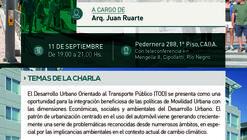 Ciclo de Charlas 'Ambiente y Ciudad' en Argentina: Desarrollo Urbano Orientado al Transporte Público