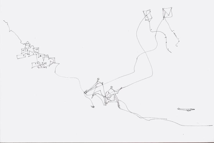 Desenho de Paulo Mendes da Rocha, sem título. Crédito: Reprodução Acervo Paulo Mendes da Rocha. Image