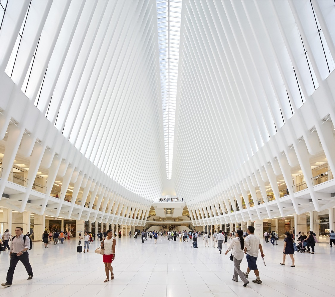 World Trade Center Transportation Hub Oculus Designed in Remembrance of 9/11