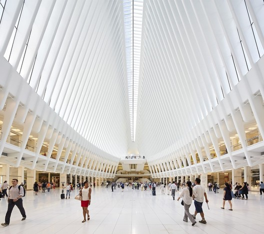 World Trade Center Transportation Hub. Image © Hufton + Crow