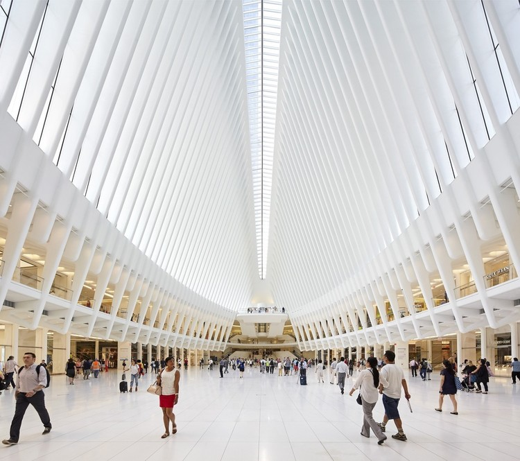 World Trade Center Transportation Hub Oculus Designed in Remembrance of 9/11, World Trade Center Transportation Hub. Image © Hufton + Crow