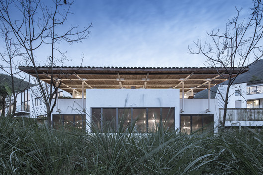 Cold Pavilion Front Elevation. Image © Yilong Zhao