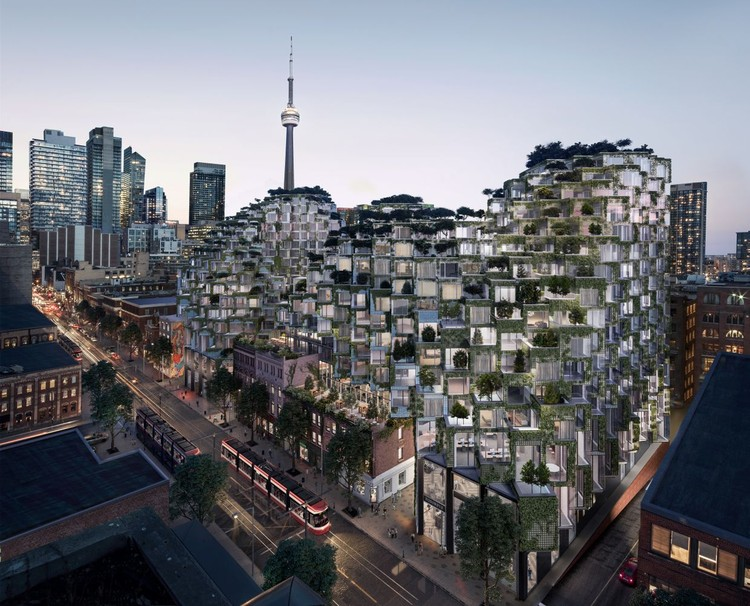 BIG's King Street West Condo Community Approved for Development in Toronto, King Street West. Image Courtesy of Bjarke Ingels Group