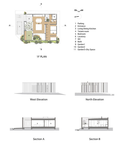 House in akashi arbol archdaily drawings malvernweather Image collections