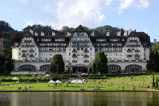 Quitandinha Palace houses the Sesc Rio since 2007. Image © Flagrante / Romullo Fontenelle