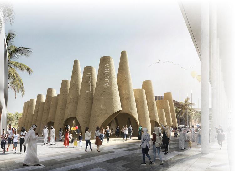 Querkraft é selecionado para projetar pavilhão nacional da Áustria na Expo 2020 em Dubai, Pavilhão da Áustria. Cortesia de Querkraft Architekten