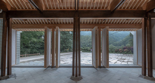 Outdoor view from inside. Image © Xuguo Tang
