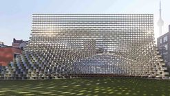 "BIG's Relocated Serpentine Pavilion Opens as ""Unzipped"" in Toronto"