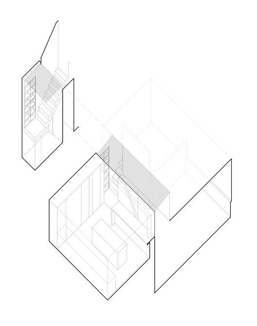 Axonometric / Kitchen + Stair