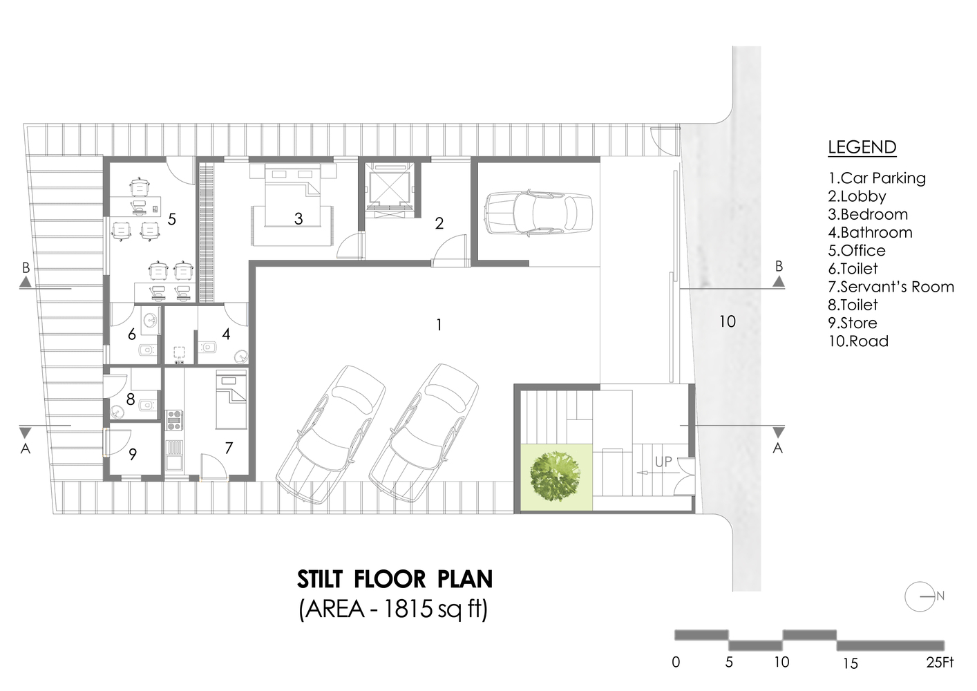 House In The Air Stilt Floor Plan