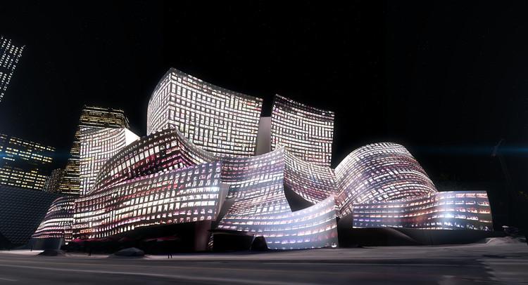 Walt Disney Concert Hall servirá de tela para espetáculo de luzes controladas por algoritmos, © Refik Anadol