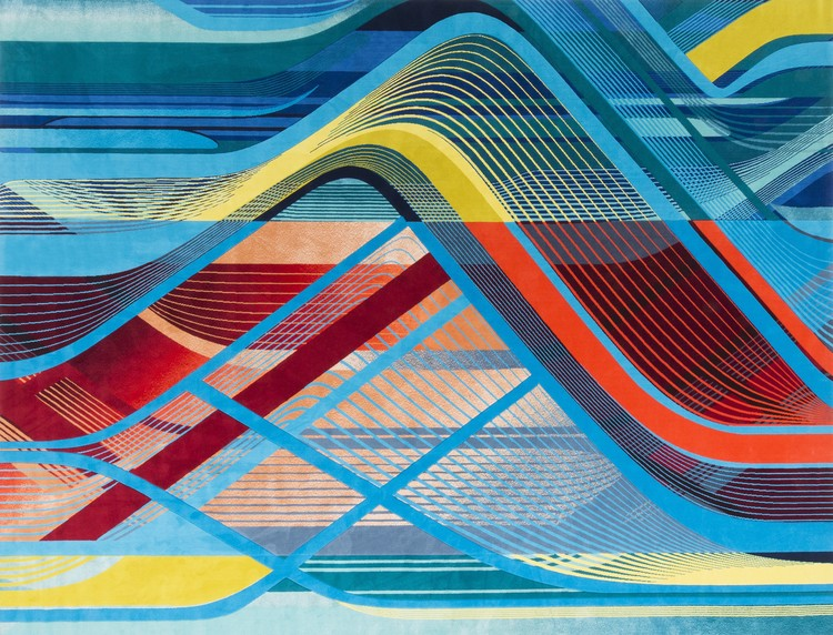 Zaha Hadid Architects Presents Interweaving Carpet Collection for Royal Thai during London Design Festival 2018, RE/Form Striation collection. Image Courtesy of Zaha Hadid Architects