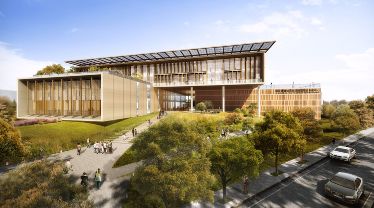 BAF win National Library Tainan, Taiwan, Taiwan National Library. Image Courtesy of BAF and Carlo Ratti