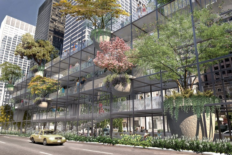 Studio JCW Proposes Big Shelf for Park Avenue, Big Shelf. Image Courtesy of Studio JCW
