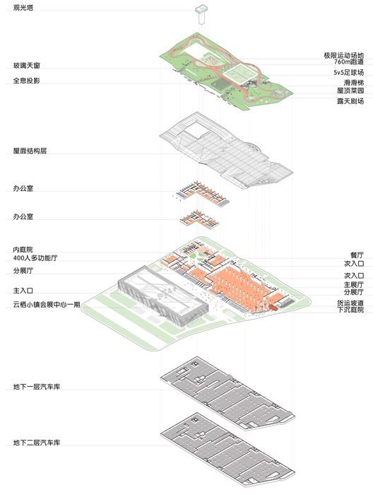 axonometry. Image © Lianping Mao