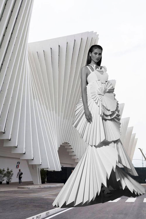 "Does Form Follow Fashion"" Viktoria Lytra's Montages Keep Iconic Architecture In Vogue"