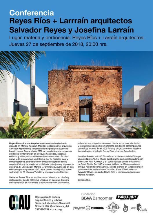 Lugar, materia y pertenencia: Reyes Ríos + Larraín arquitectos., CCAU