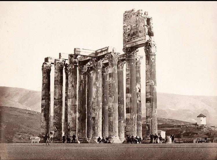 O curioso caso de uma foto falsificada do século XIX das ruínas de Atenas