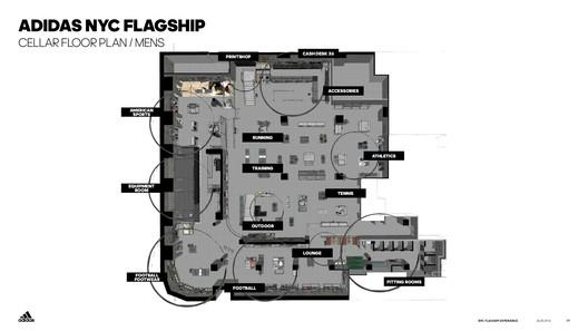 Cellar floor plan / Mens