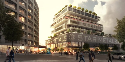 Street view of Star Metals Offices and Residences. Image © Luxigon