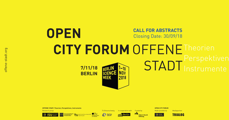 Call for Abstracts   OPEN CITY, CALL FOR ABSTRACTS   OPEN CITY