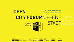 Call for Abstracts | OPEN CITY