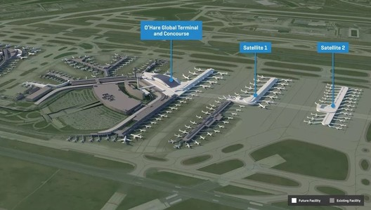 Chicago O'Hare International Airport Expansion. Image © O'Hare 21