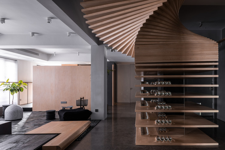 Brand Center of Ugan Concept / Jiangjiu Architecture, Aisle. Image © Feng Shao