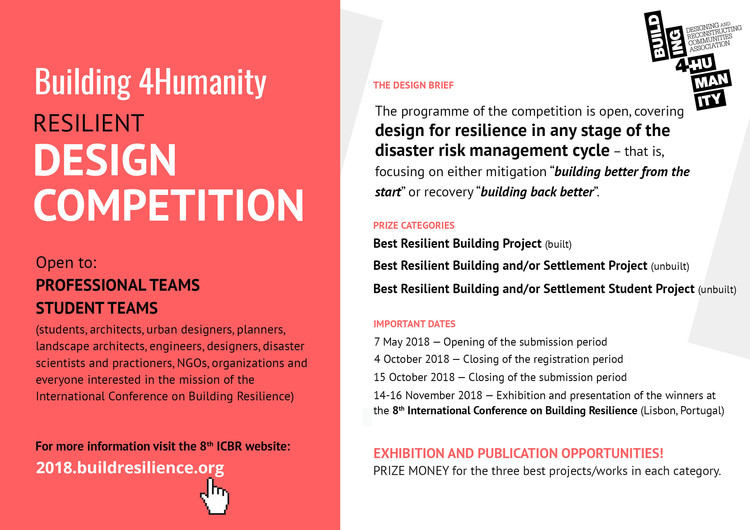 Resilient Design Competition - call for entries