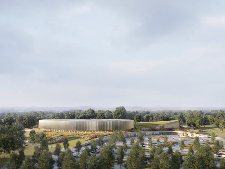 Mecanoo and Metaform Win Mondorf-les-Bains Velodrome and Sports Complex, Mondorf-les-Bains Velodrome and Sports Complex. Image Courtesy of Mecanoo