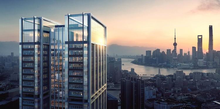 Novo arranha-céu de Foster + Partners começa a ser construído em Xangai, Suhewan Skyscraper. Imagem Cortesia de Foster + Partners
