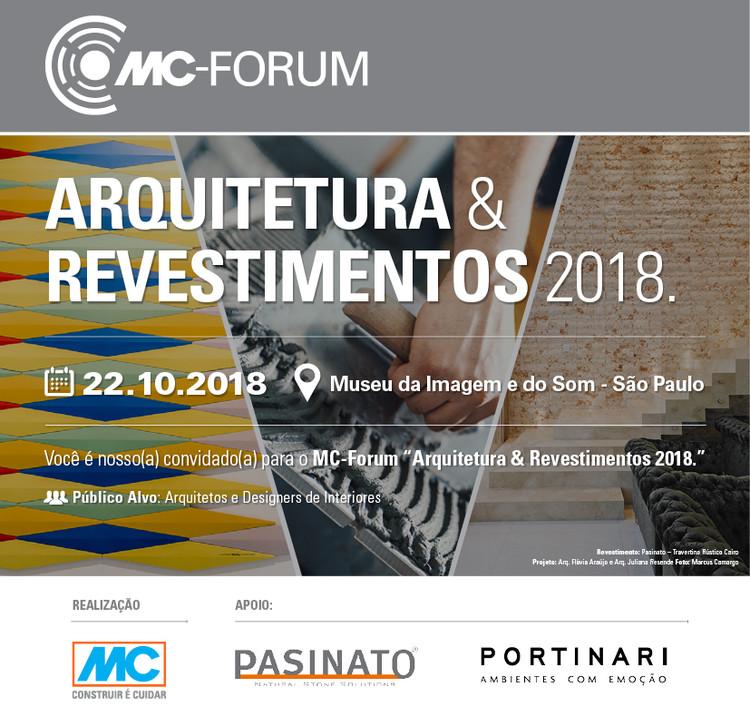 MC-Fórum Arquitetura e Tendências 2018, MC-Forum Arquitetura e Tendências 2018   Apoio Pasinato e Portinari