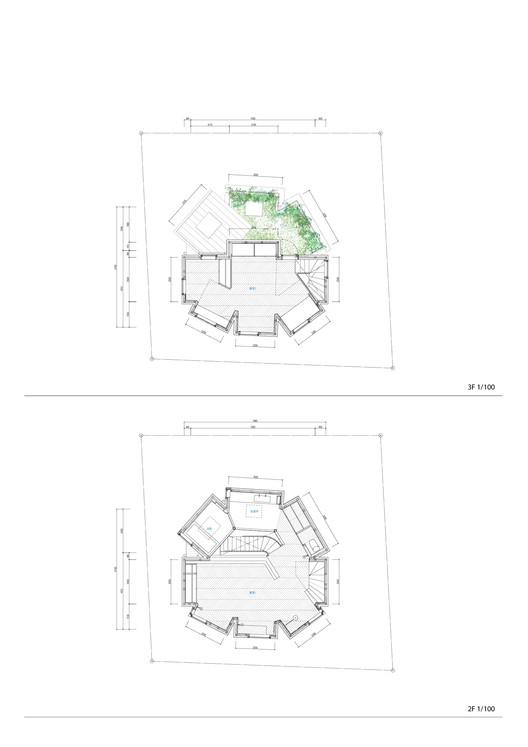 Second + Third floor plan