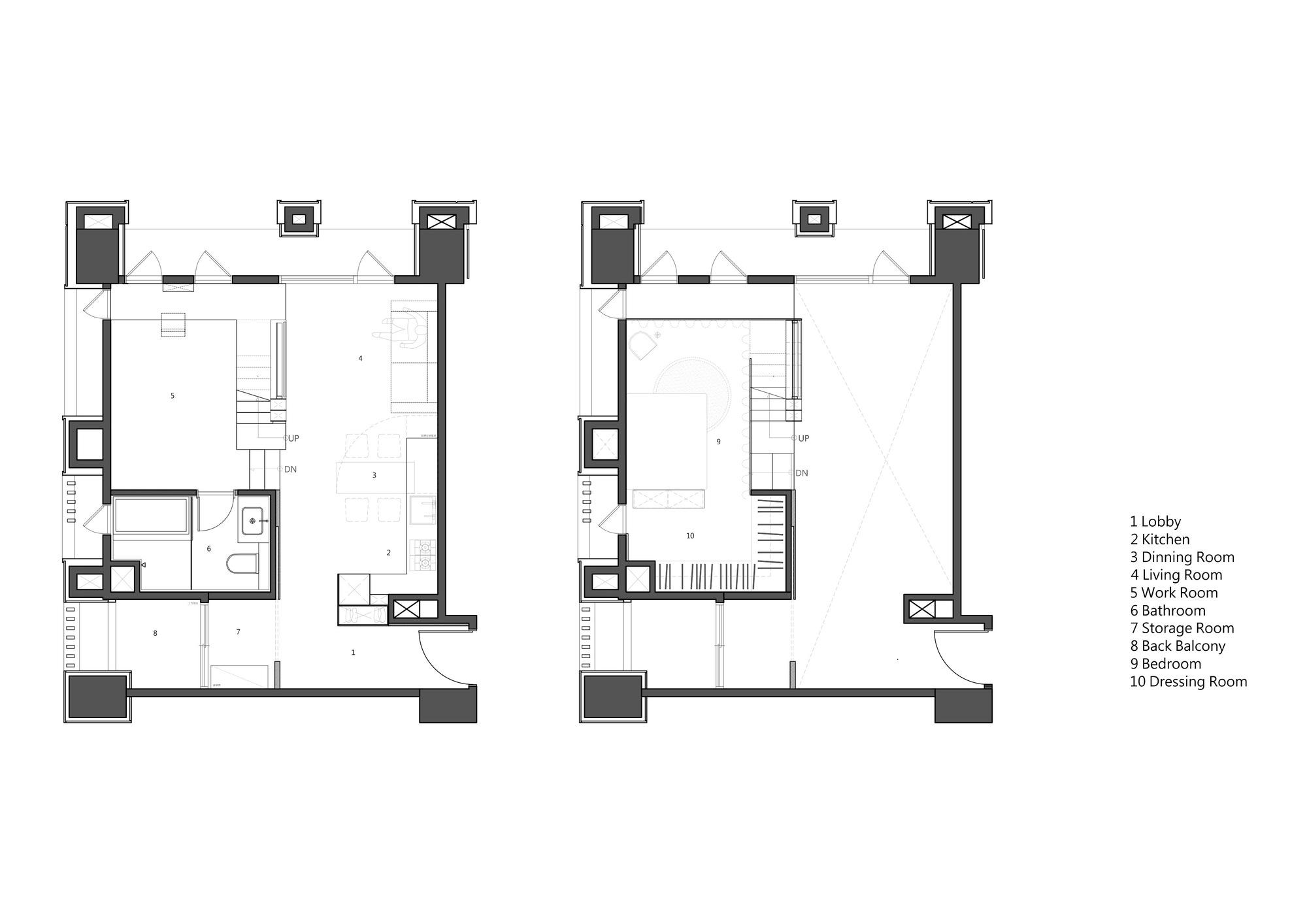 Plan Dressing En U gallery of apartment x / kc design studio - 16