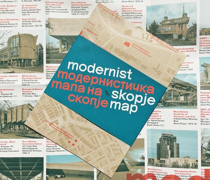 The Modernist Skopje Map, A Pocket Guide to Brutalist Architecture in Macedonia's Capital, Courtesy of Blue Crow Media