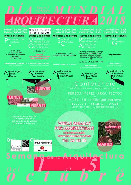Semana de la Arquitectura 2018 en La Rioja, Cartel Semana Arquitectura La Rioja