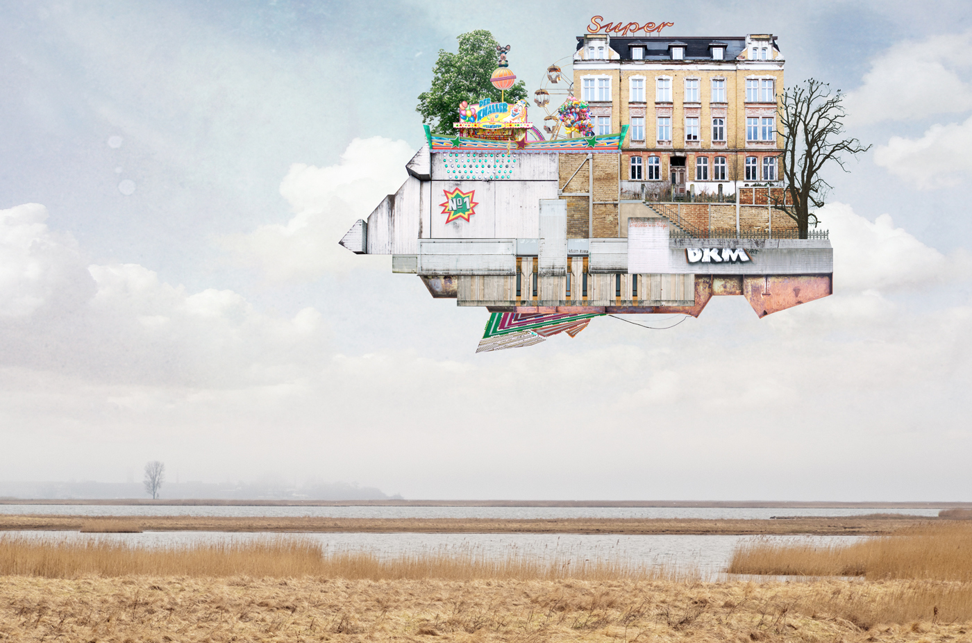 Matthias Jung's Collage Houses Redefine Surreal Architecture