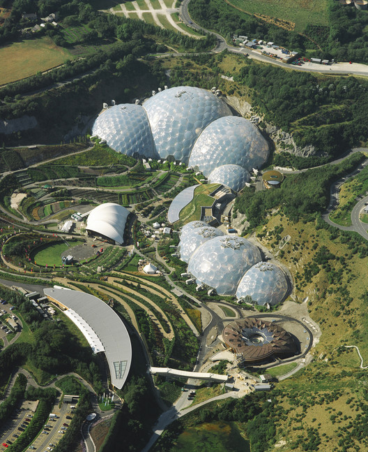 The Eden Project in Cornwall. Image © Sealand Aerial Photography