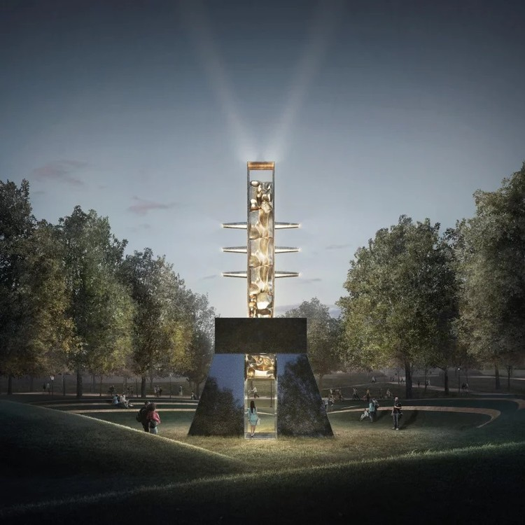 Adjaye, MASS Design Group and Shonibare Among 5 Finalists for Boston's MLK Memorial, Empty Pulpit Monument. Image Courtesy of Barbara Chase-Riboud