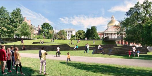 Boston's King Memorial. Image Courtesy of Adam Pendleton, Adjaye Associates, FuturePace, and David Reinfurt