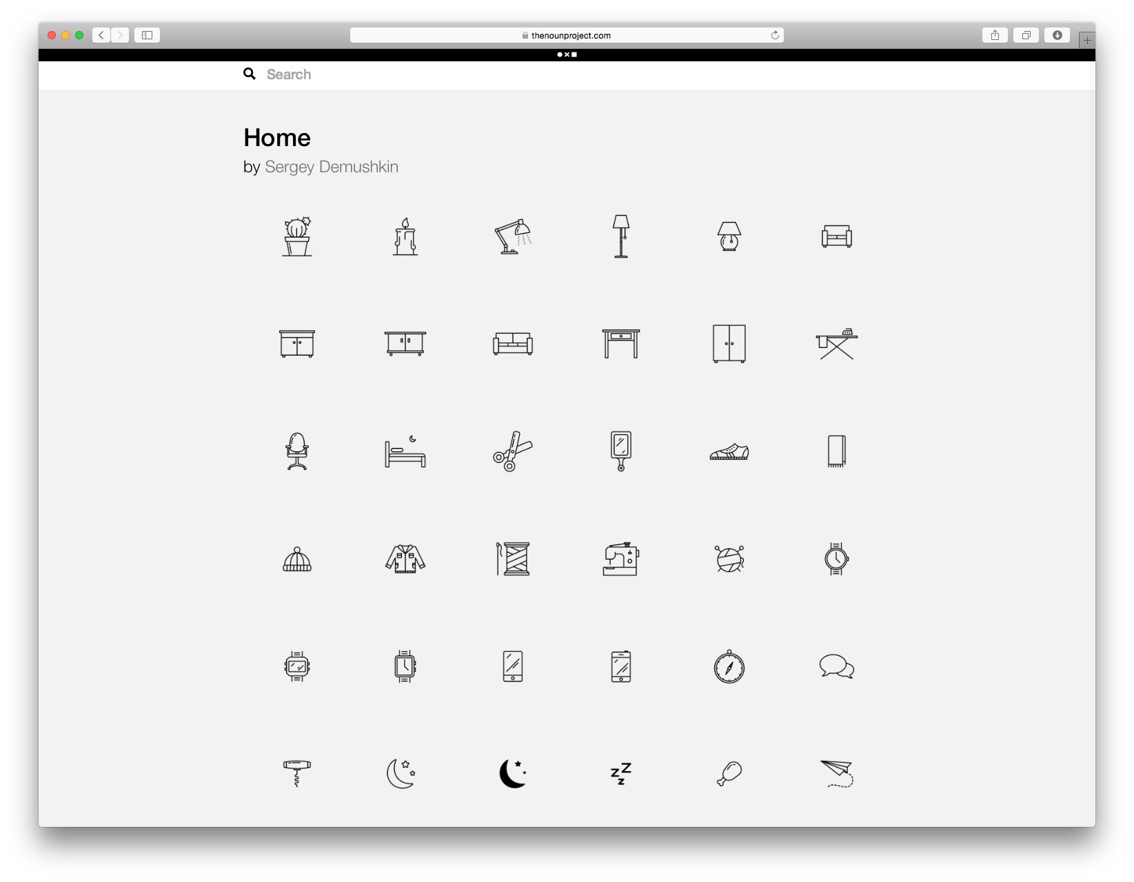 The Noun Project: iconos para tus esquemas y diagramas de representación arquitectónica