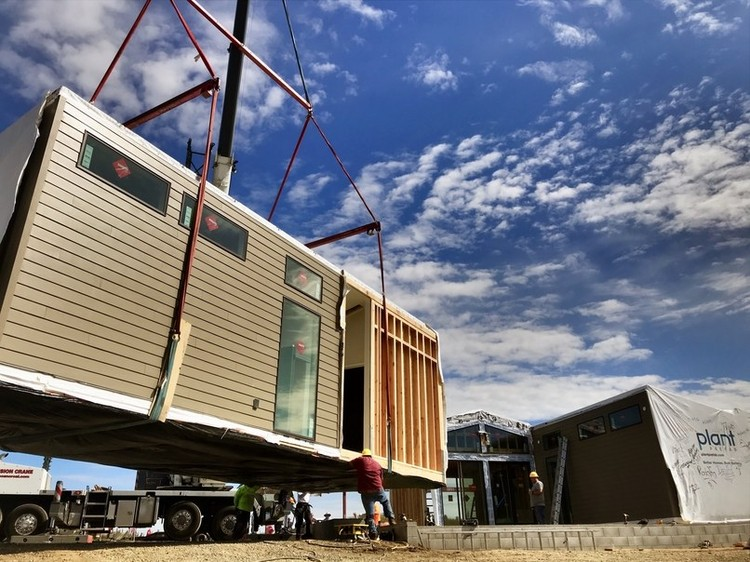 Amazon Invests in Start-Up Company to Deliver Prefabricated Homes, Plant PreFab Home. Image Courtesy of Plant PreFab