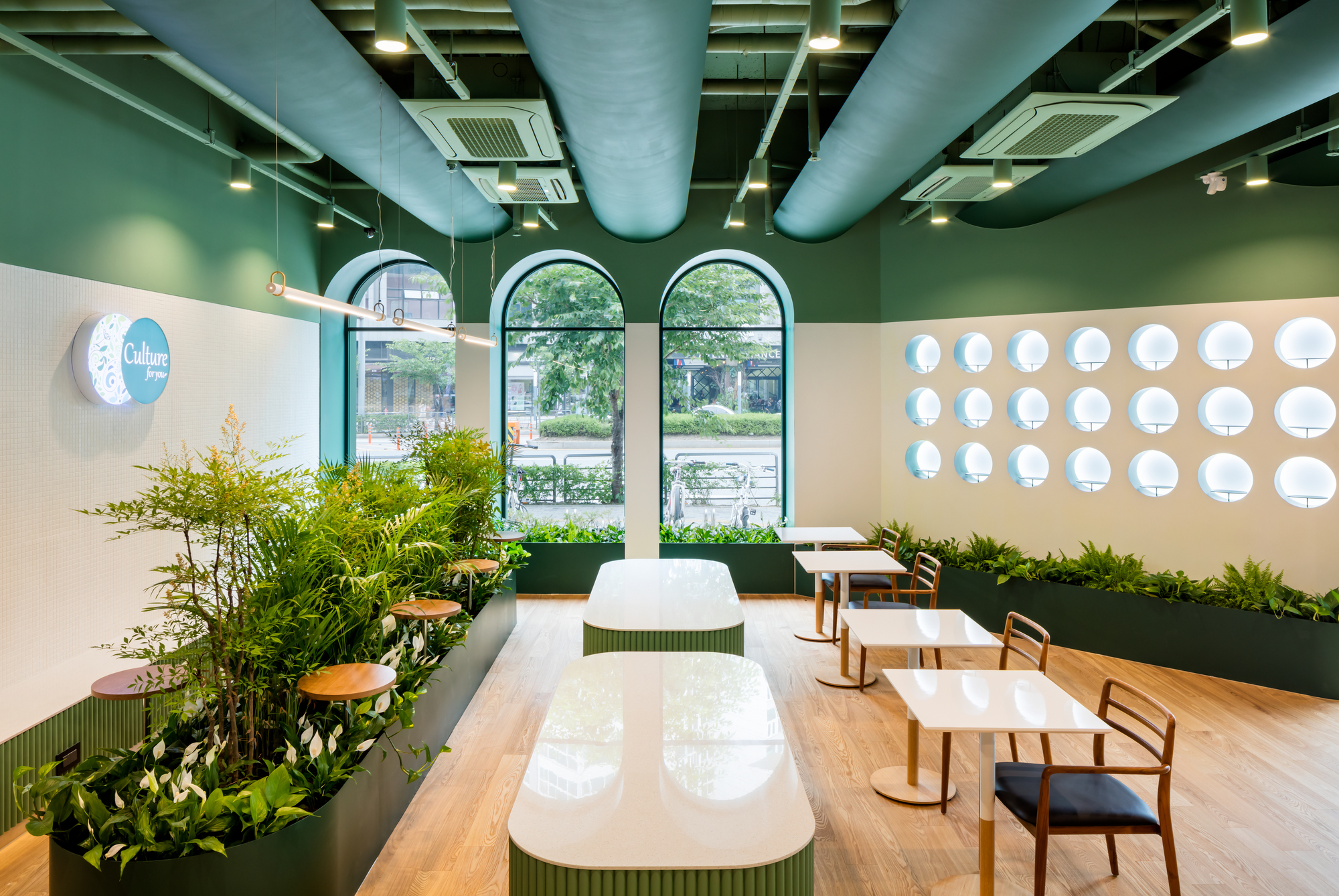 Cafe Loge The Cornerz Kode Architects Archdaily