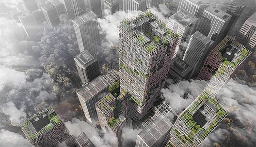 NIKKEN SEKKEI - W350Project. Image © Nikken Sekkei