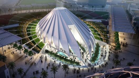 UAE Pavilion. Image Courtesy of Santiago Calatrava