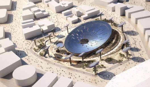 Sustainability Pavilion. Image Courtesy of Grimshaw