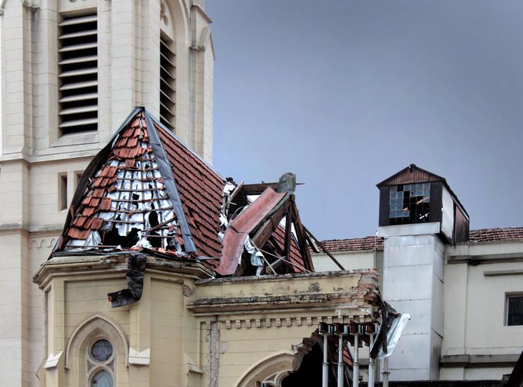 A Igreja Luterana de São Paulo cinco meses após ruir parte de sua estrutura, © Matheus Pereira